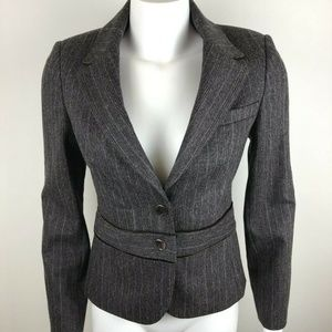 Ted Baker Wool Blazer Button-up Jacket Striped
